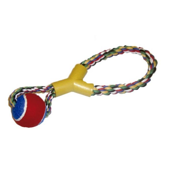 Tirador soga reforzada con pelota
